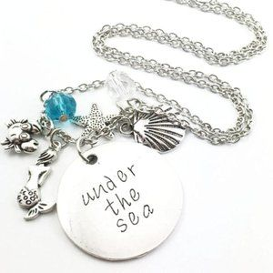 Under The Sea Mermaid Charm Necklace NEW